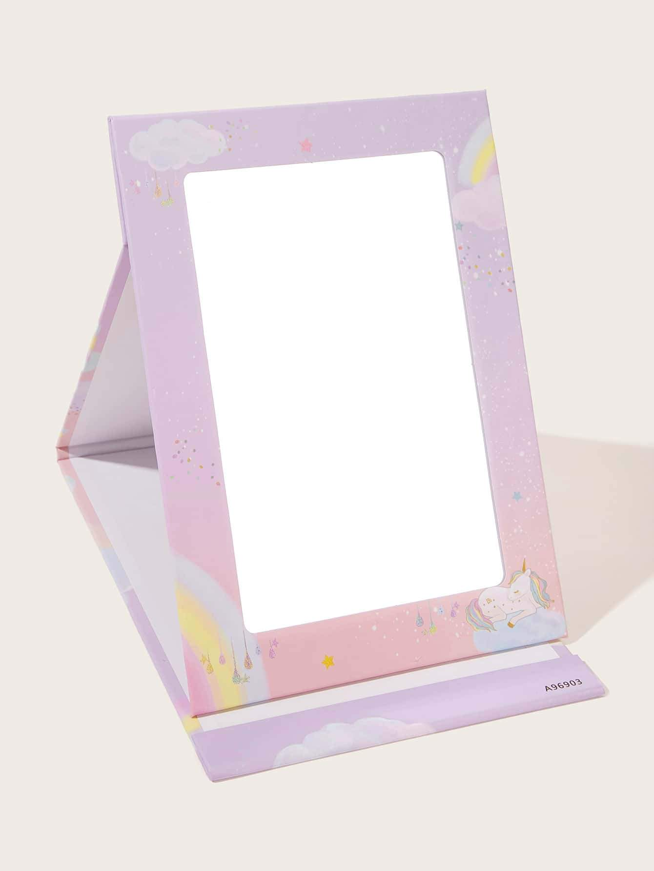 1pc Random Unicorn Pattern Folded Mirror