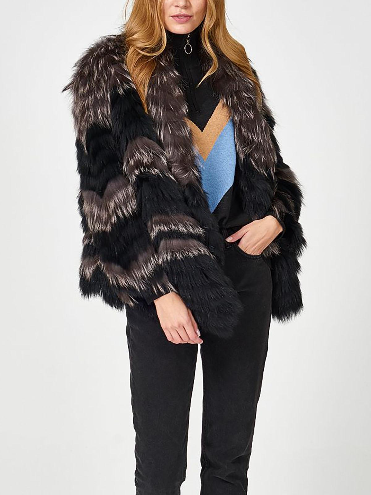 Fashion woman made fur mink coat