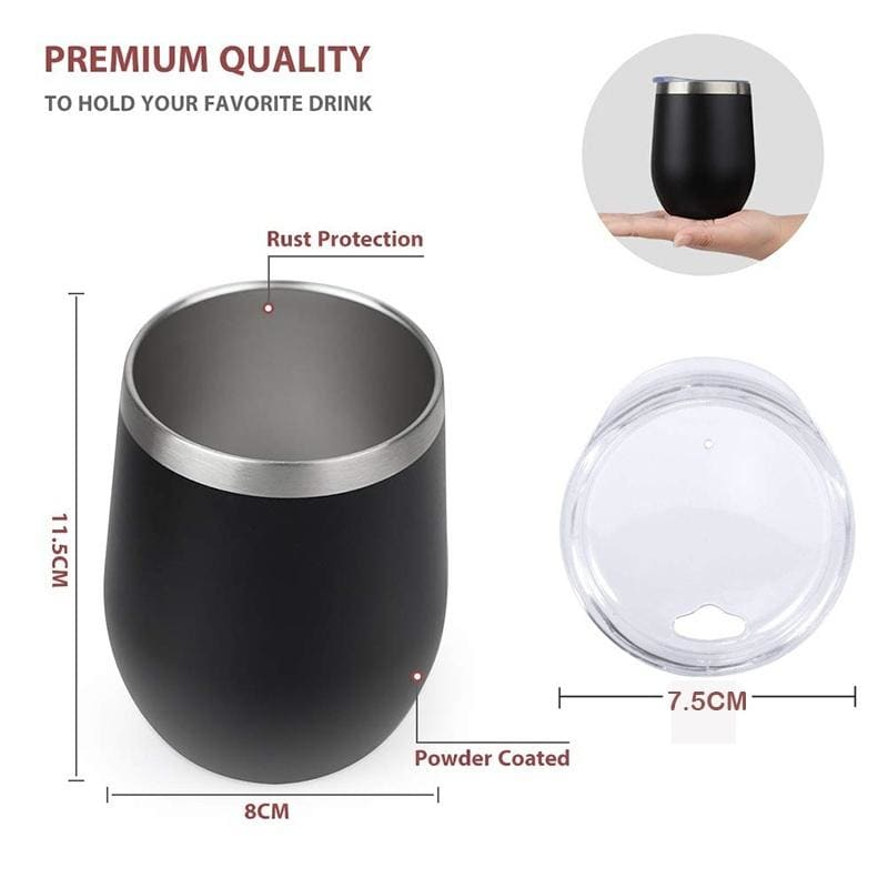 Fuckity Fuck Fuck Fuck Stemless Wine Cup 12 oz Double Wall Vacuum Insulated Gift for friend