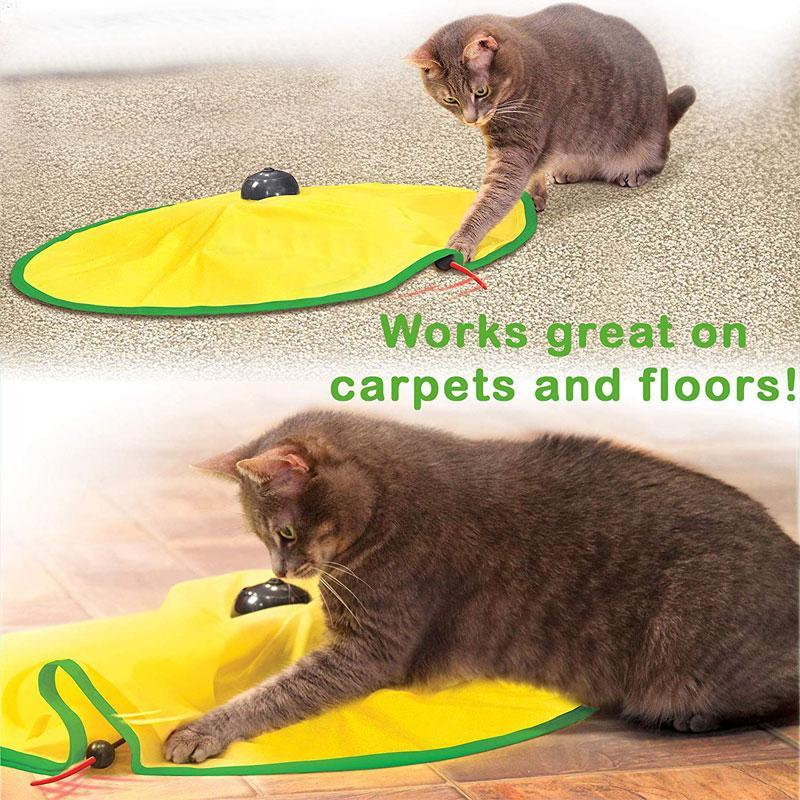 Automatic Shut Off Motorized Mouse Wand Cat Toy