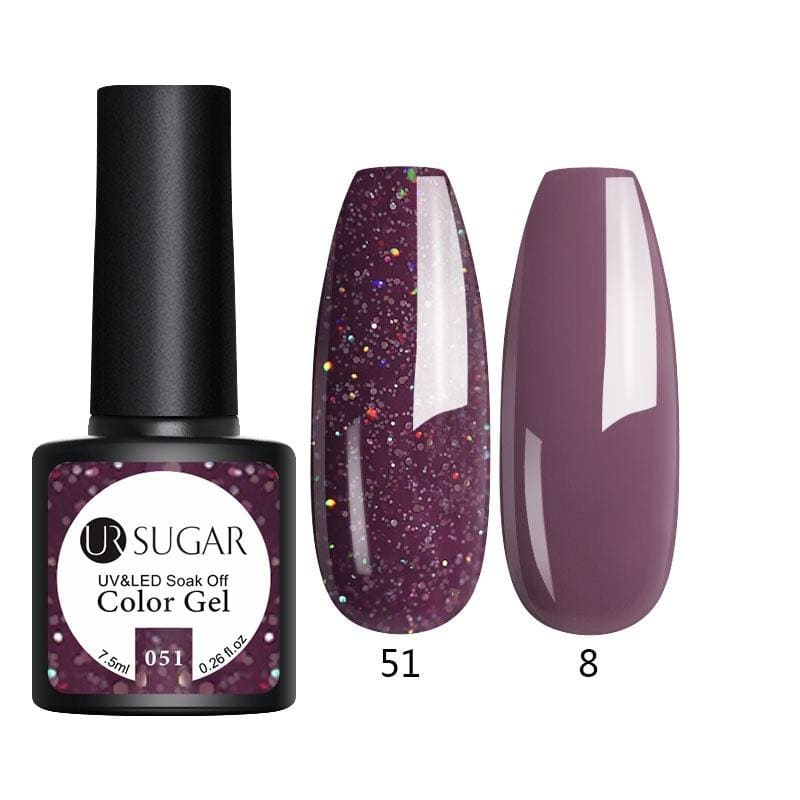 UR SUGAR Winter Chritmas Series Color UV Gel Shining Silver Gold Red Gel Nail Polish Varnish