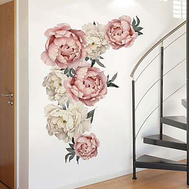 Beautiful Flowers Wall Stickers - Plane Wall Stickers Transportation / Landscape Study Room / Office / Dining Room / Kitchen