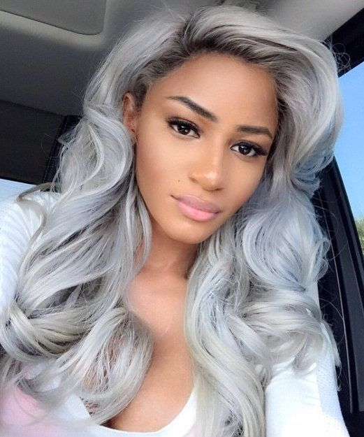 2020 Best Lace Front Wigs Gray Hair With Purple Highlights Dusty Rose Hair Color Halo Remi Quality Wig Ombre Burgundy Lace Front Wig