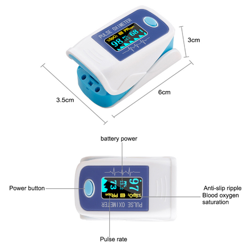 Portable Fingertip Pulse Oximeter,Fingertip Oximeter Made in USA