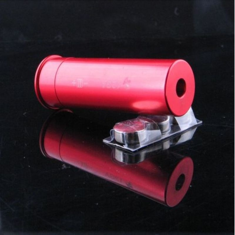 Tactical Red Dot Laser Brass Boresight CAL Cartridge Bore Sighter with Batteries For Hunting/Shooting Sport