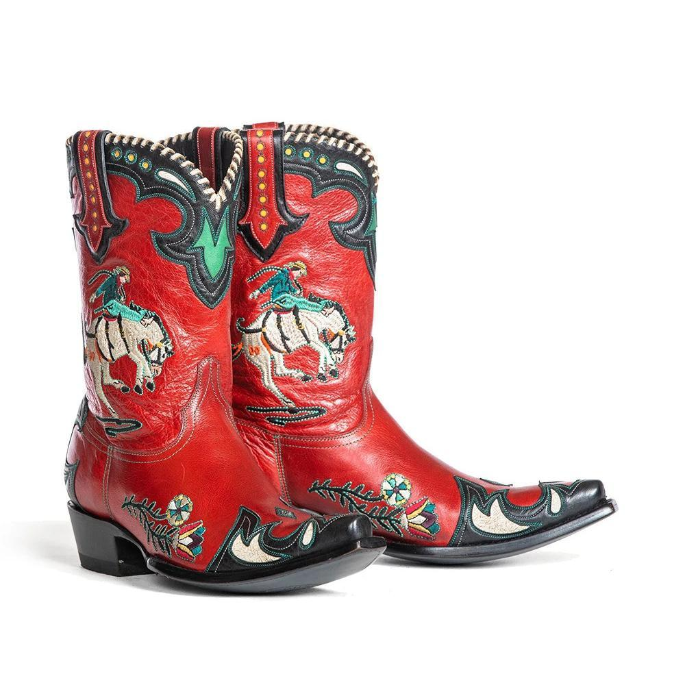 【🍁🍂10% Off Autumn Discount & FREE SHIPPING🍁🍂】DOUBLE D RANCH  BUCKING BRONCO LEATHER BOOTS