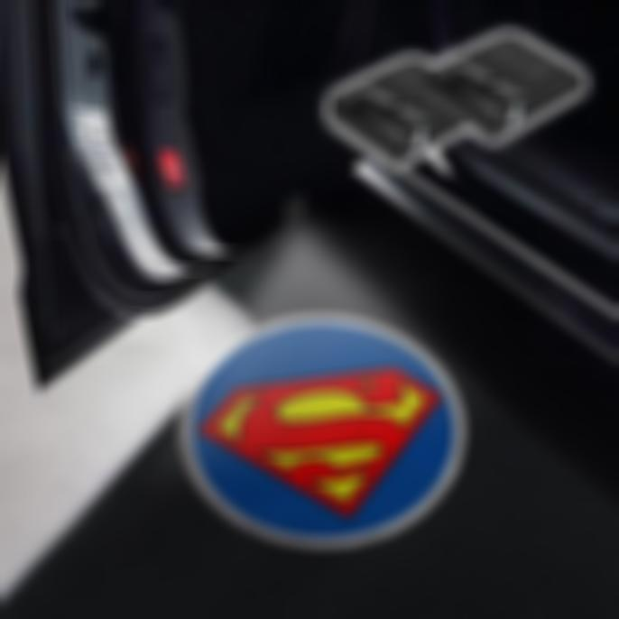 CarFitg Wireless Led Car Door Projector Puddle Logo Light - Superman