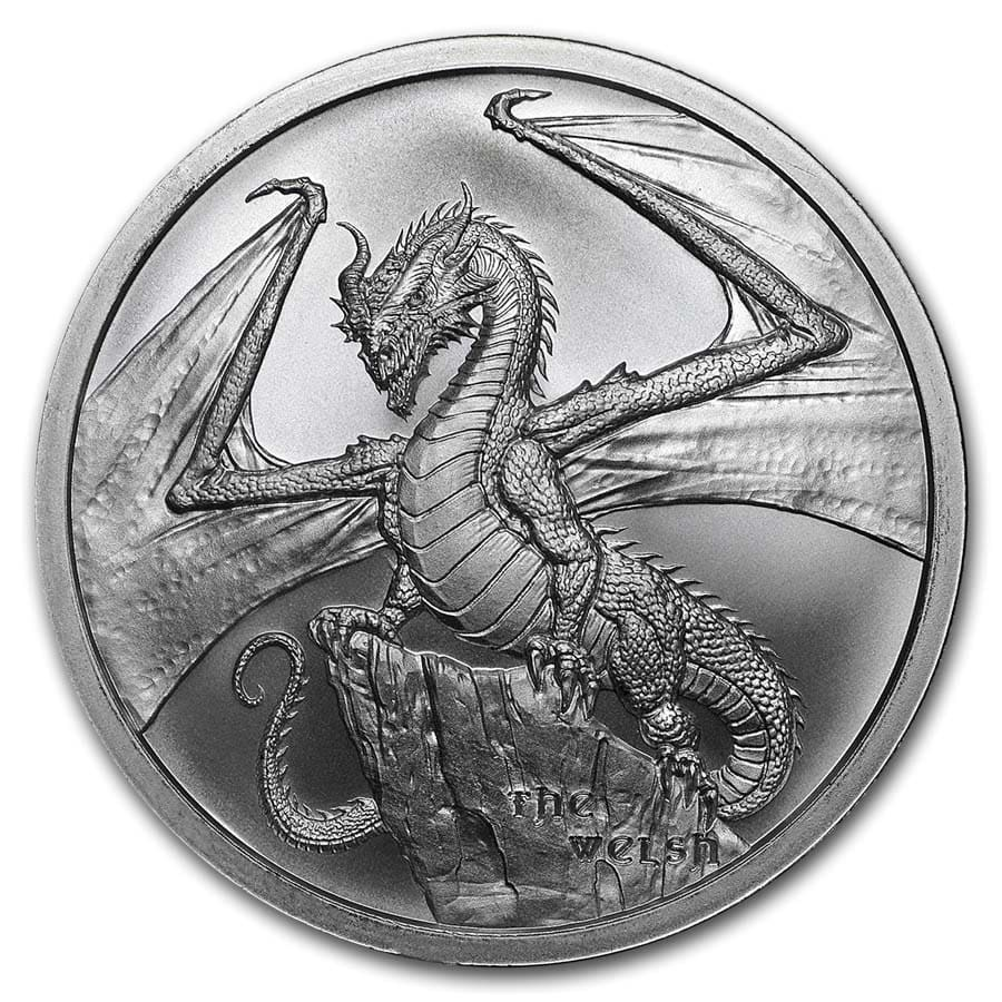 1 Oz World of the Dragons Series the Aztec Round