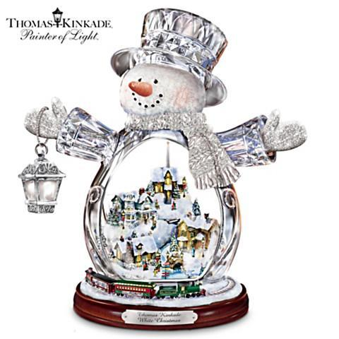 """""""White Christmas"""" Masterpiece Edition Crystal Snowman"""