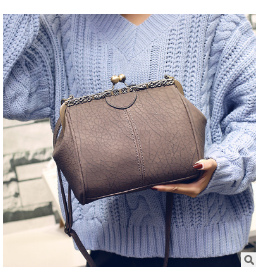 Casual new PU leather burst crack crossbody bag