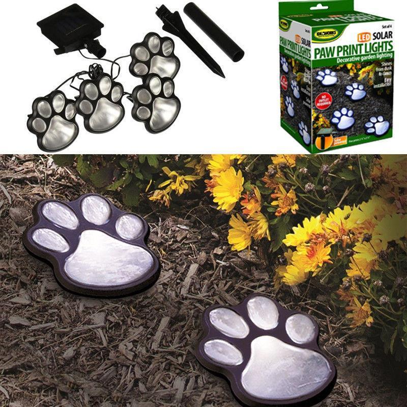 (New Year Sale-50% OFF)Solar-Powered Paw Print Lights