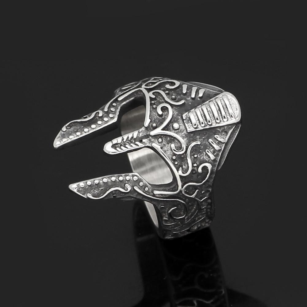 Stainless Steel Warrior Helmet Ring