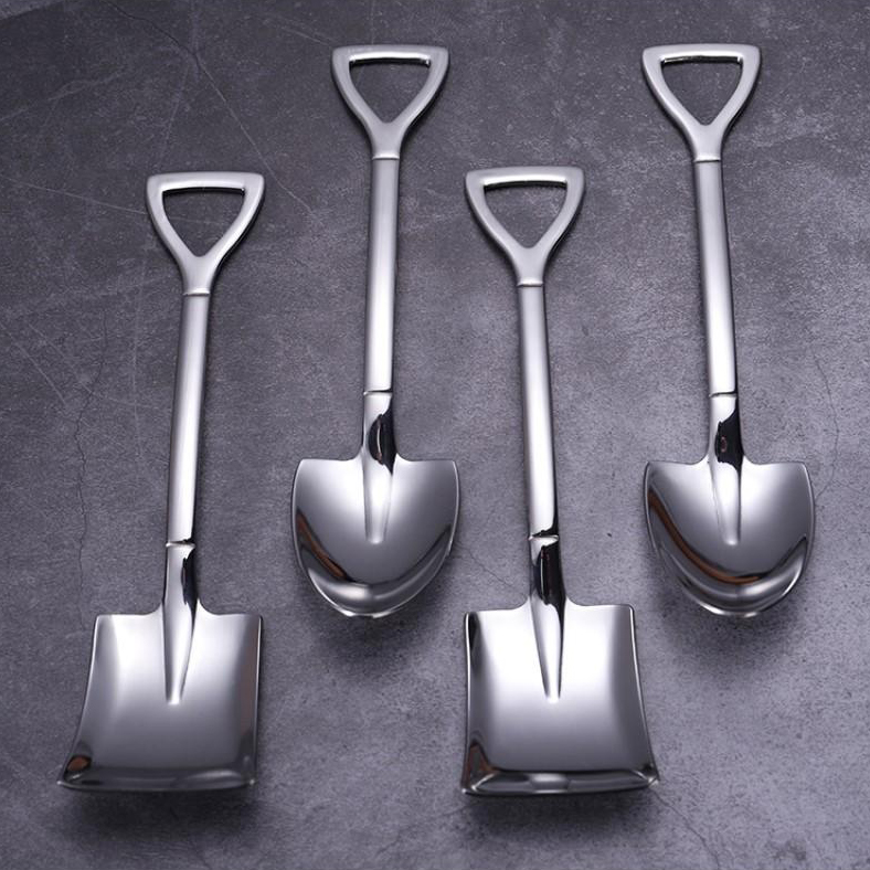 (🎅EARLY XMAS SALE - 50% OFF) Stainless Steel Shovel Spoon Fork(FREE GIFT)(1 SET/3 PCS)