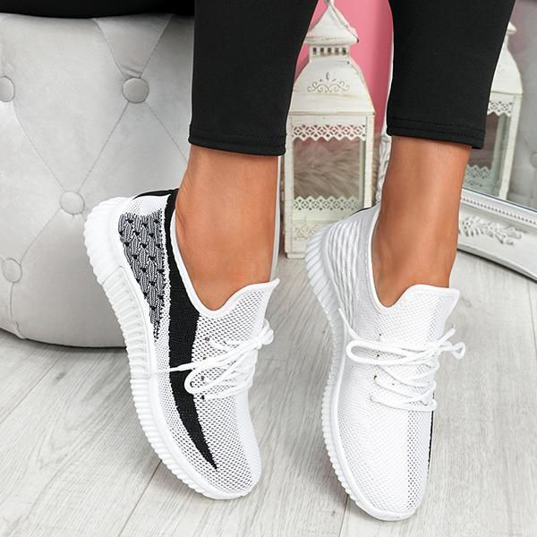 Trendymap Breathable Lightweight Lace-Up Sneakers