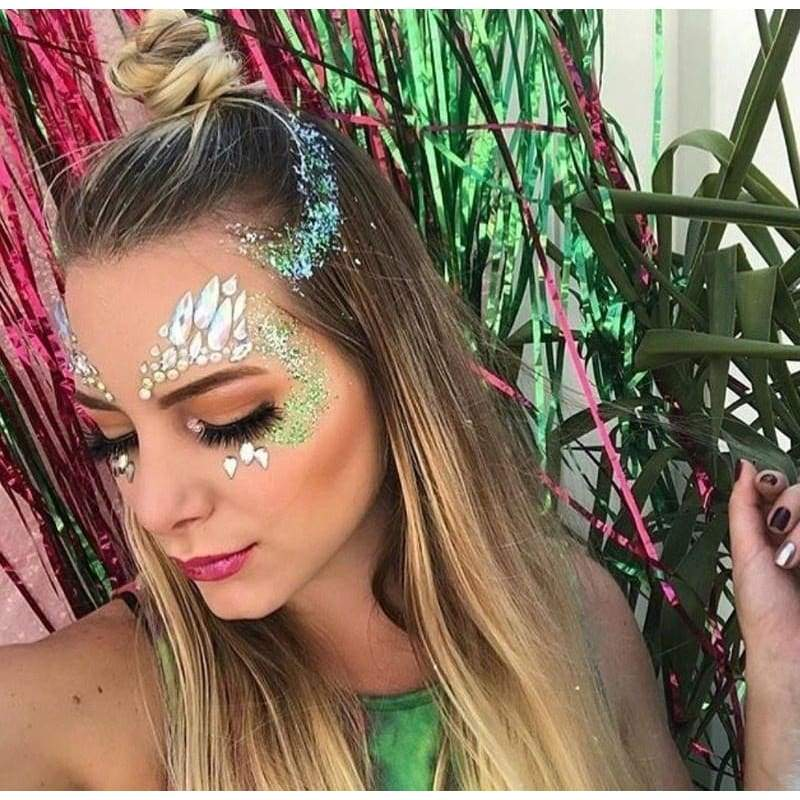 Face Jewels Festival Clothing Face Stickers Rhinestone Face Gem Jewelry Rave Mask DIY Face Glitter Party Decoration Temporary Tattoos
