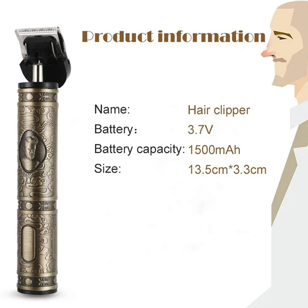 Limited Sale 50%OFF - Dual Voltages Cordless Rechargeable Zero Gapped T-Blade Trimmer-U.S Warehouse Delivery