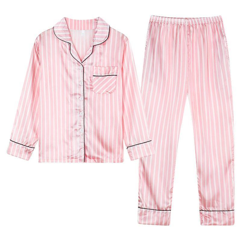 Women's cotton long-sleeved trousers cardigan pajamas