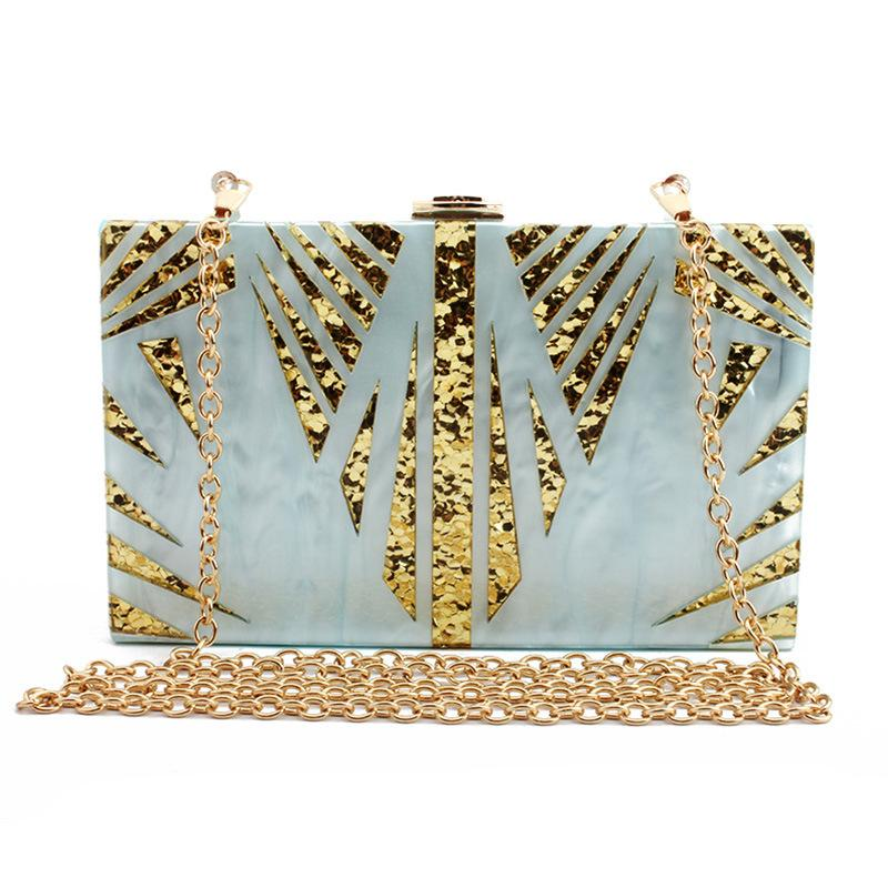 New style leaves and branches evening bag  acrylic lady's clutch bag  fashion catwalk evening  acrylic bag Clutch-1.2