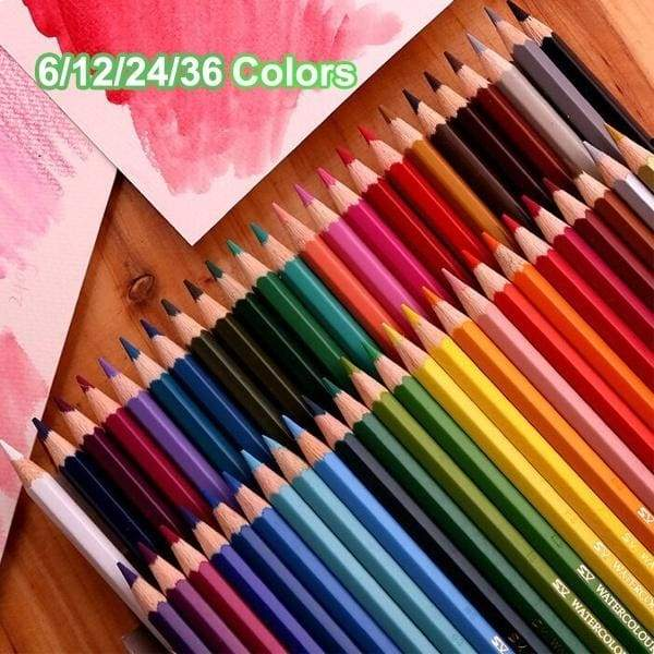 6/12/24/36 Colors Water-soluble Colored Pencils, Design Painting Drawing Pencils For Children School Office Supplies Sketch Art Students