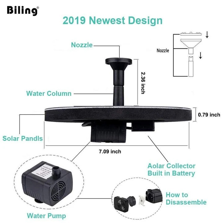(New Year Promotion- SAVE 50% OFF) Solar-Powered Bird Fountain Kit -Buy 2 Free Shipping