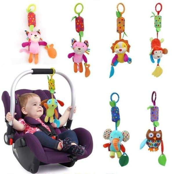 Baby Kids Rattles Toys Stroller Crib Hanging Soft Plush Toys Animal Doll Bell