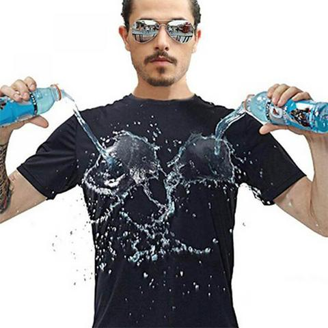 【40% Off 】--Ice Silk Anti-Dirty Waterproof Quick Dry T-Shirt