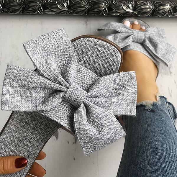 Twinklemoda Women Casual Bow Flat Slippers