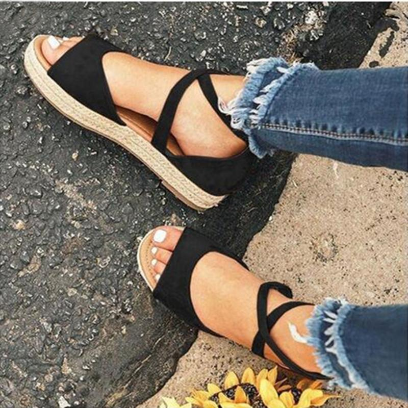 Ladies Cross-tie Summer Casual Sandals