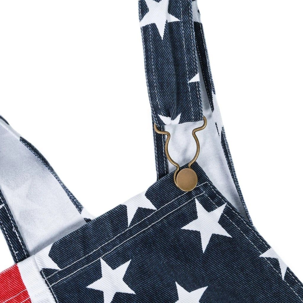 American flag overalls shorts 4th of July Jumpsuits