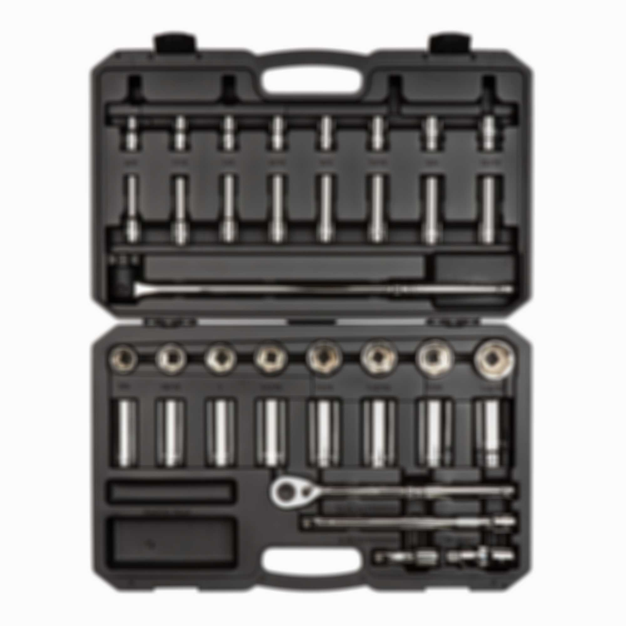 1/2 Inch Drive 6-Point Socket & Ratchet Set, 38-Piece (3/8 - 1-5/16 in.)