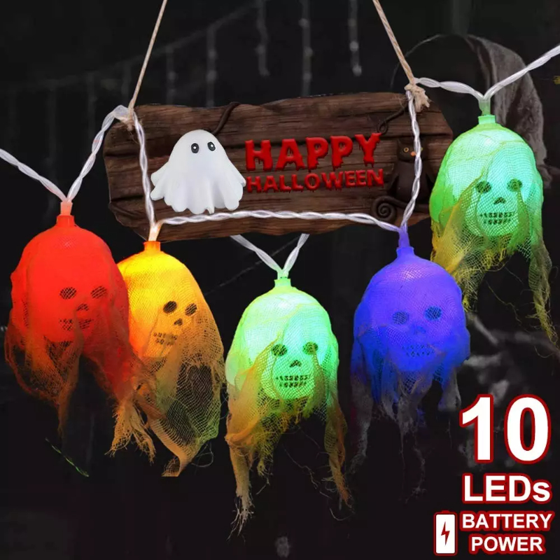 Halloween Skull String Lights Decorations