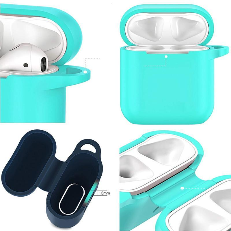 Anti-lost Protective Silicone Waterproof Cover with Clasp for Airpods Case