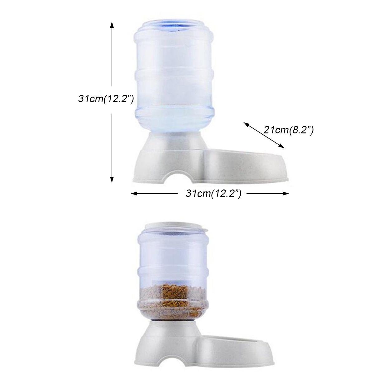 3.8L Automatic Detachable Pet Feeder Food Bowl Water Dispenser Feeding Machine Leakproof