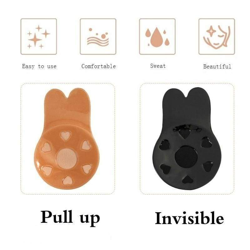 New Women Self Adhesive Push Up Bra Sexy Backless Invisible Silicone Bras Gel Stick Strapless Blackless Bralette Underwear Cup