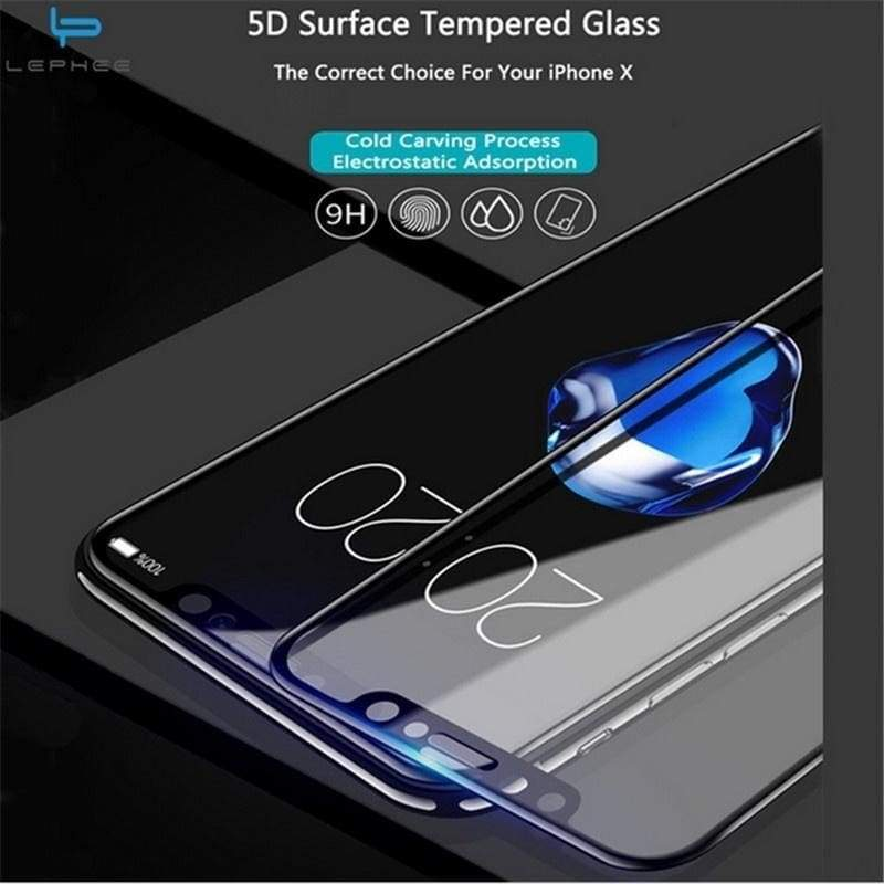 2017 New 5D 9H Hardness Mobile Phone Film Full Cover 5D Tempered Glass Screen Protector Film Case for IPhone 6 6S 6 Plus 6splus 7 7Plus 8 8Plus For Iphone X