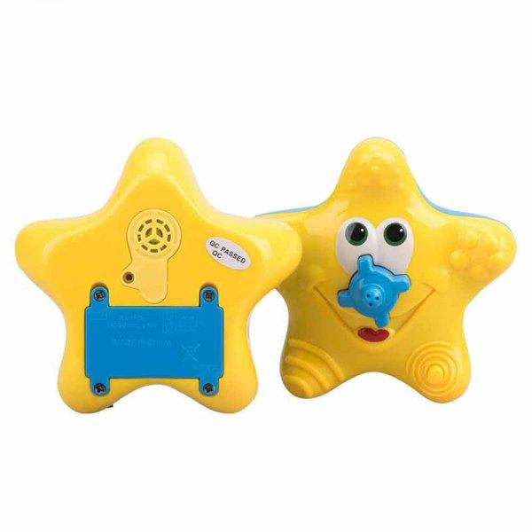 Lovely Star Pattern Bath Shower Toy Electric Water Spray for Kid - Yellow