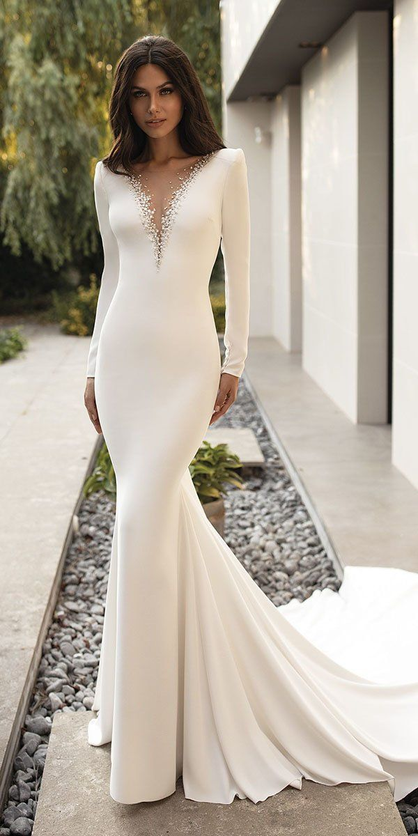 Fashion Long Sleeve Wedding Dress Wine Colored Bridesmaid Dresses Slimming Formal Dresses Dresses To Wear To An Outdoor Wedding Vintage Bridesmaid Dresses
