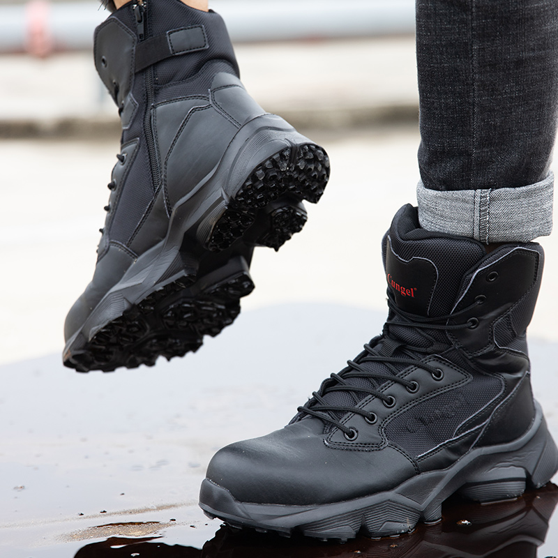 Men's Steel Toe Outdoor Safety Work Shoes Smashing Slip Protection Shoes