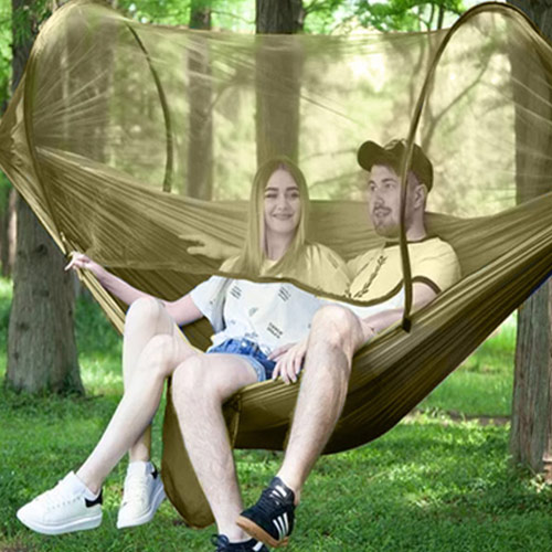 Anti-mosquito Folding Sleeping Camping Netted Hammock