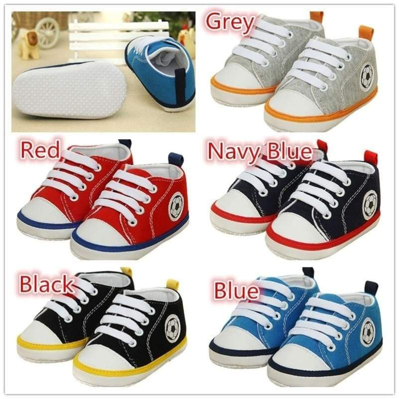 Kids Boy Girl Shallow Lace-Up Sports Shoes Sneakers Sapatos Baby Bebe Soft Bottom First Walkers
