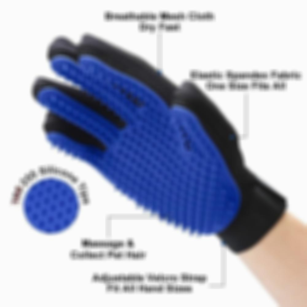 Pet Grooming Glove Efficient Pet Hair Remover Mitt Buy two for as little as $30!!!