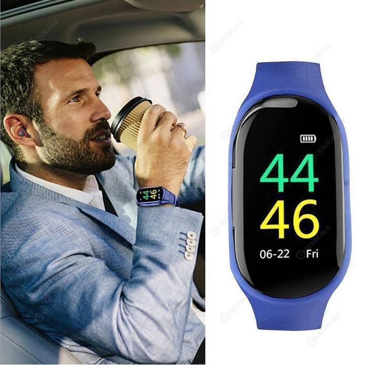 2 In 1 Smart Watch with Bluetooth Earphone【FREE SHIPPING】