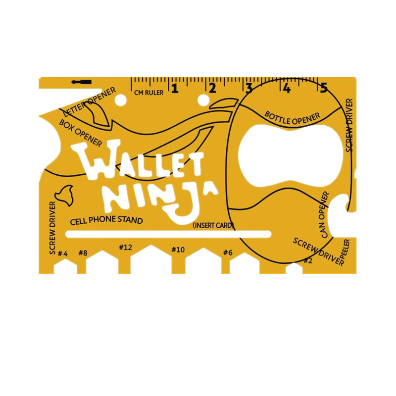 Wallet Ninja- 18 in 1 Credit Card Sized Multitool