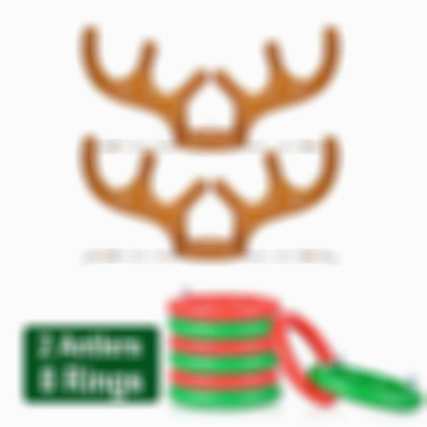 CHRISTMAS SALE - 70% OFF - Christmas Reindeer Antler Ring Toss Game