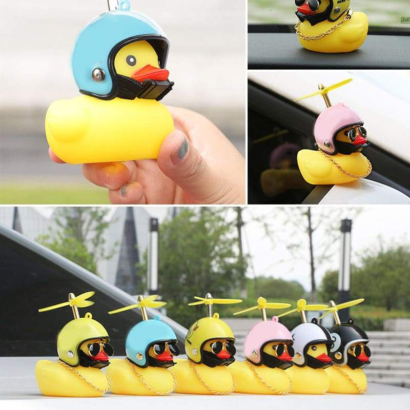 Luminous Car Yellow Duck Ornaments