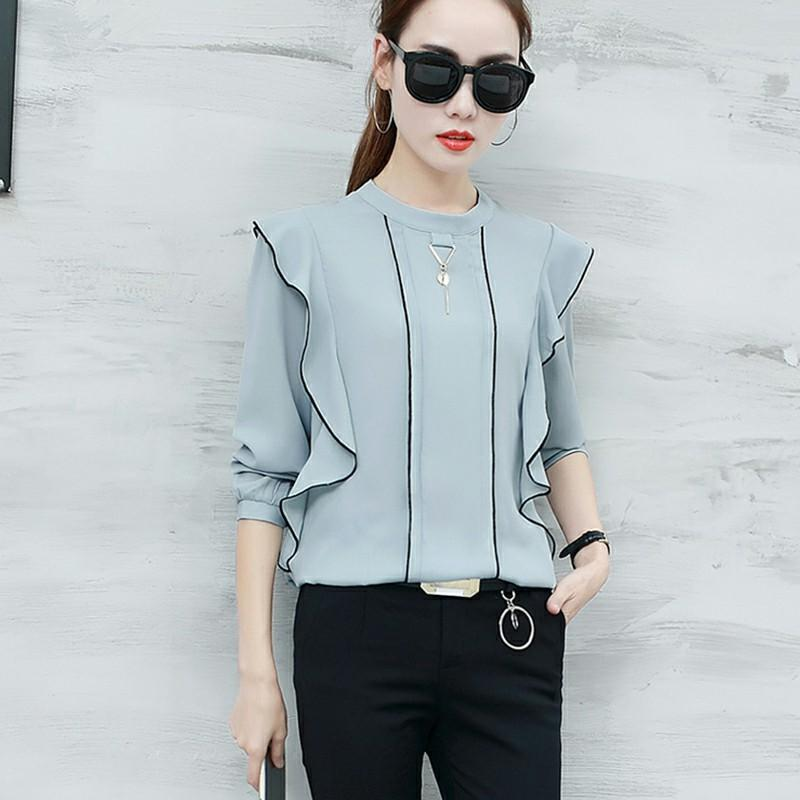 Fashion Loose Chiffon Shirt
