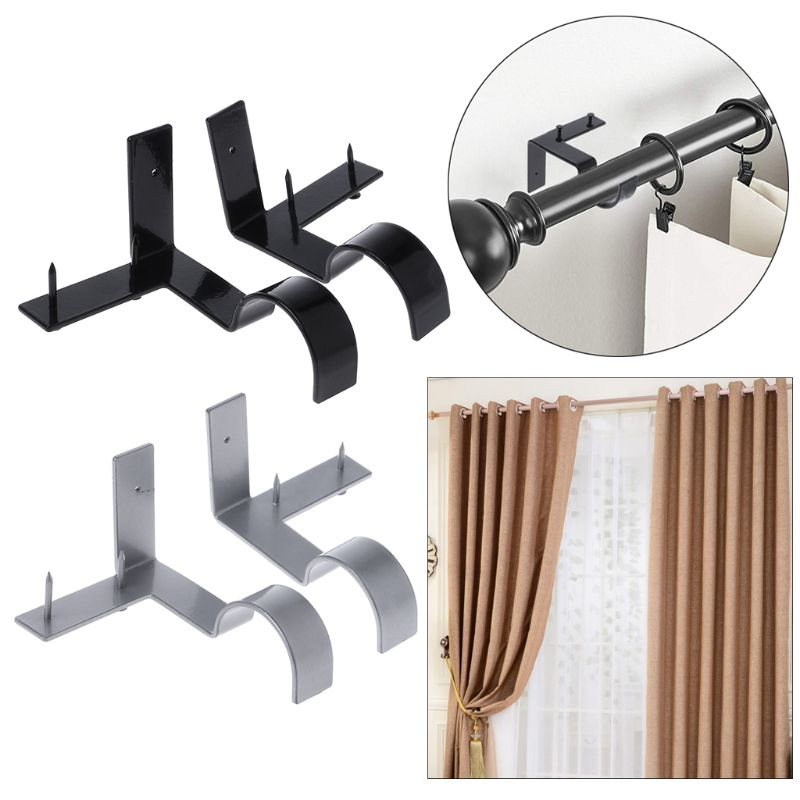 Double Center Support Curtain Rod Bracket🔥$9.99 Only Today