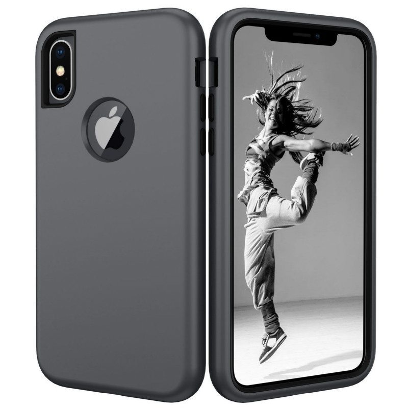 3 in 1 Heavy Duty Armor Case Built-in Screen Protector Rugged Cover Strong Cover for IPhone XsMax Xs Xr X 8 8 Plus 7 7 Plus 6 6S 6 Plus 6S Plus Samsung Galaxy Note 9 for Galaxy S10 S10 Plus S10 Lite