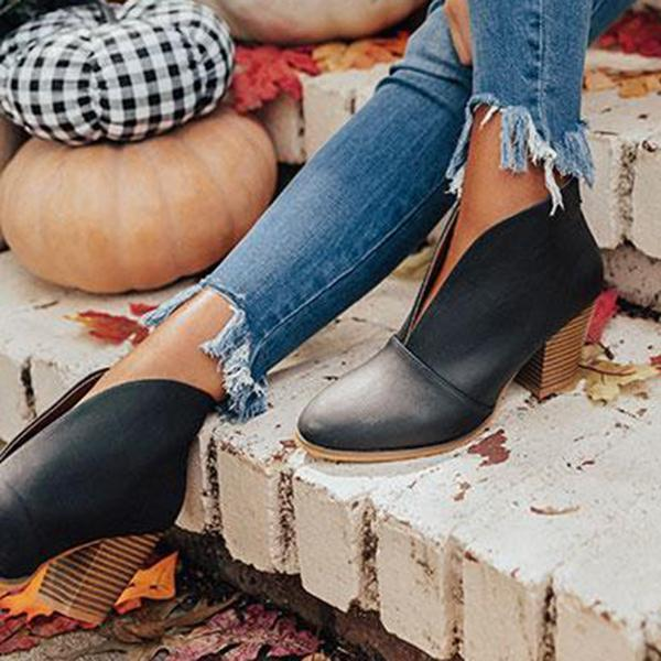 Lemmikshoes Fashion Faux Leather Slip-on Boots