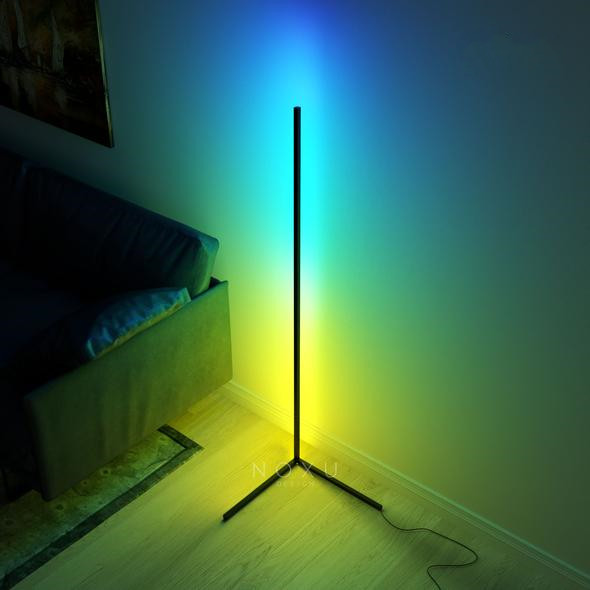 Nordic Simple Symphony Right Angle LED Line Dimming Floor Lamp Household Lighting